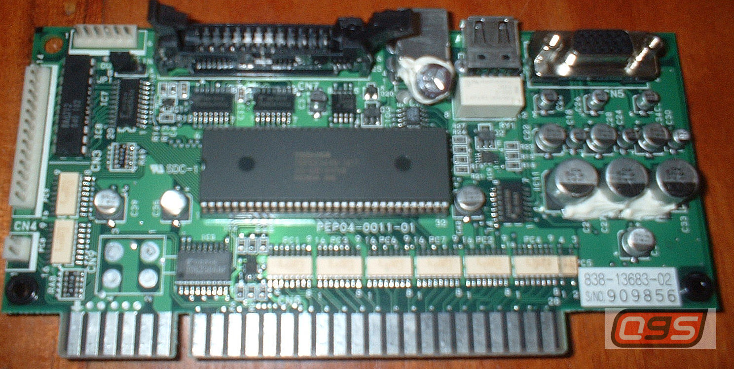 Sega Jvs Jamma 838 13683 02 6 Buttons Kick Harness Help Naomi Wiring Diagram Its On The Left 14 Pin Connector Pinout Is Top Side Of This Illustration